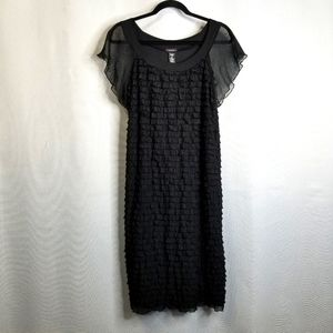 NWT Cocomo Black Ruffled Dress